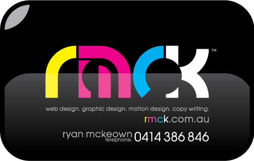 web design. graphic design. motion design. copy writing. rmck.com.au